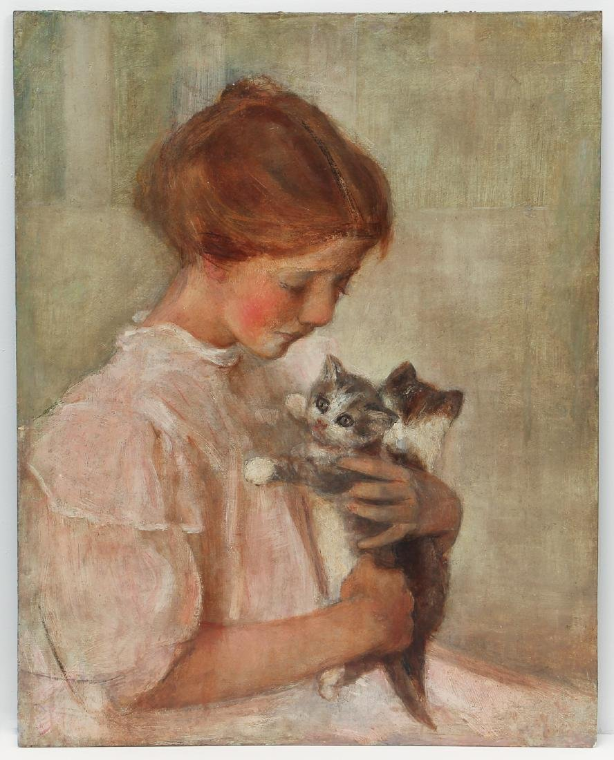Edith Prellwitz ptg. Girl with Kittens - 2