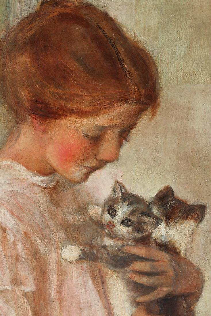 Edith Prellwitz ptg. Girl with Kittens - 3