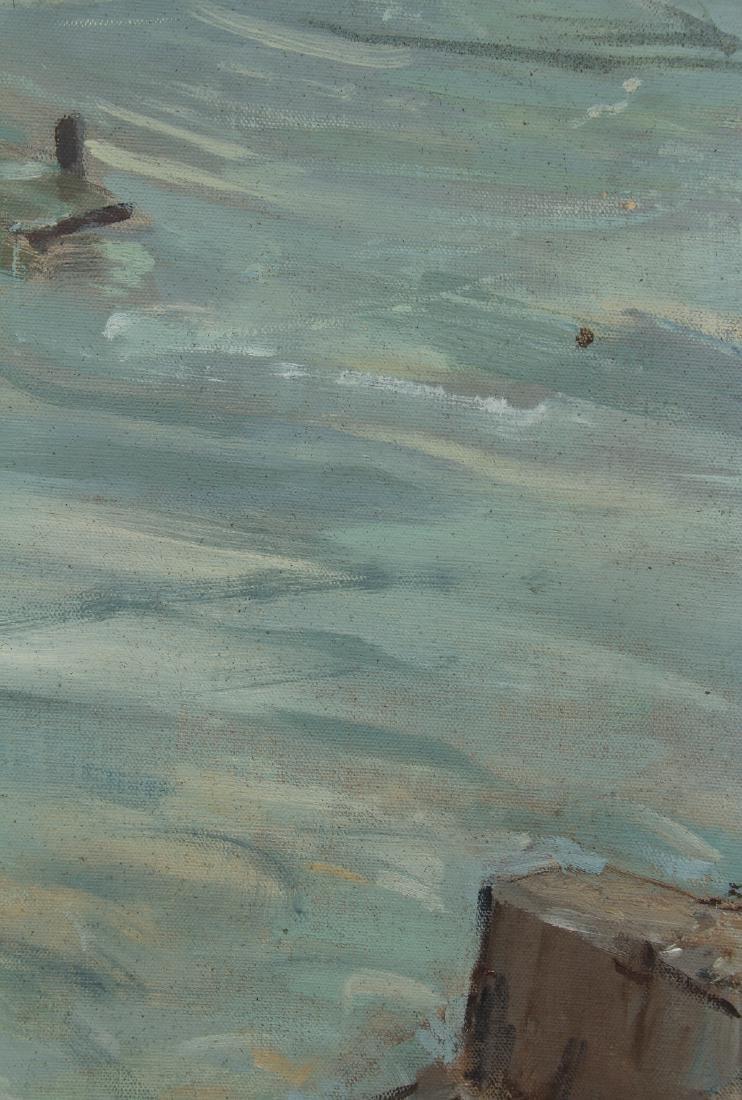 Henry Prellwitz oil Stormy Coastal Seascape, N.Y. - 5