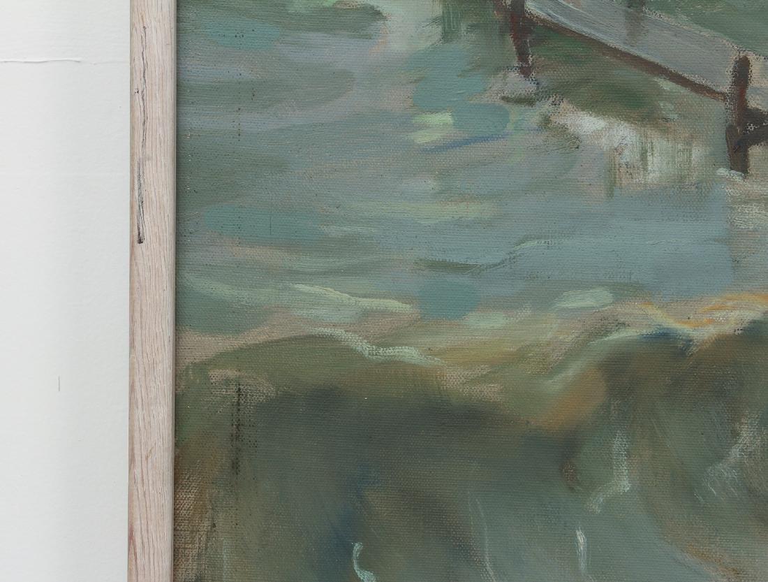 Henry Prellwitz oil Stormy Coastal Seascape, N.Y. - 6