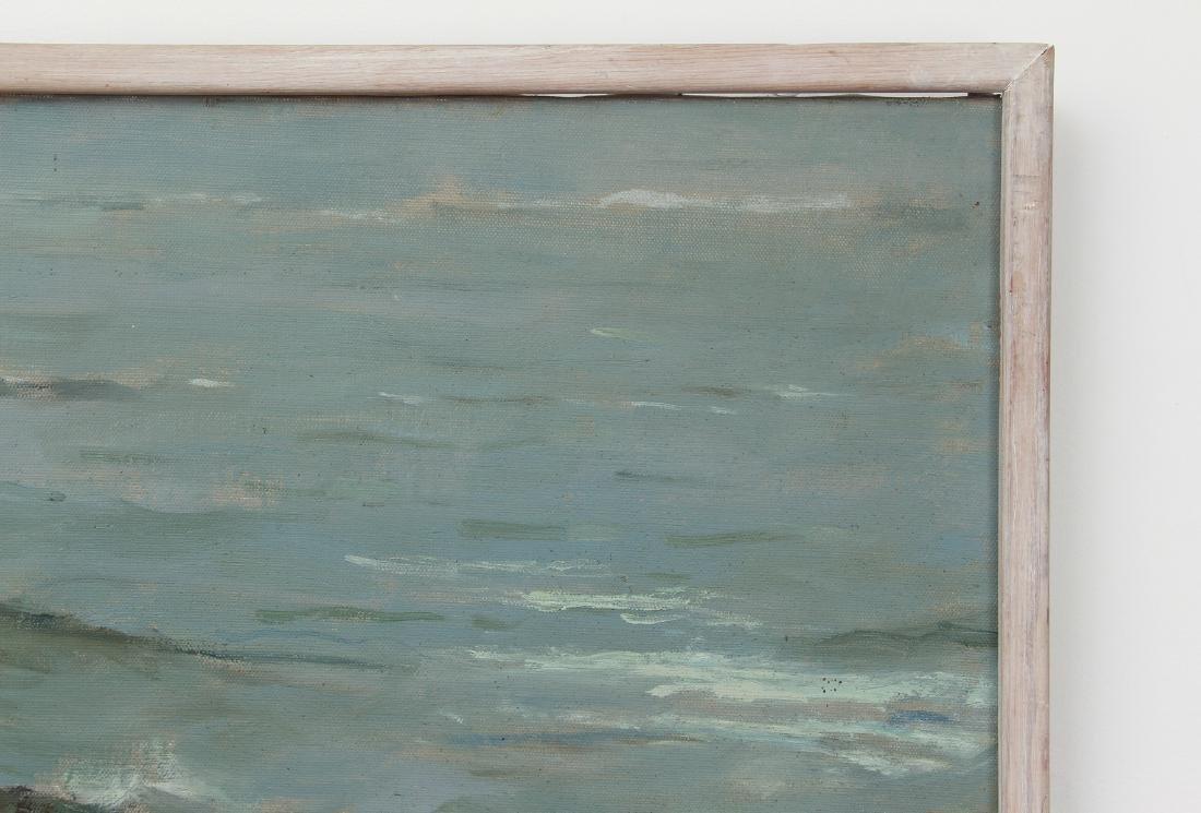 Henry Prellwitz oil Stormy Coastal Seascape, N.Y. - 7
