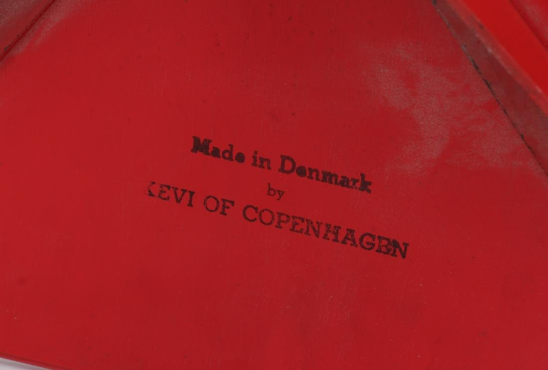Two Red Kevi of Copenhagen Mid Century Chairs - 5