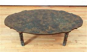 Philip and Kelvin LaVerne Muses Oval Coffee Table