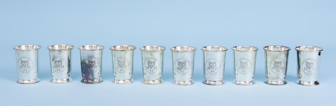 Ten Rolling Rock Hunt Julep Cups