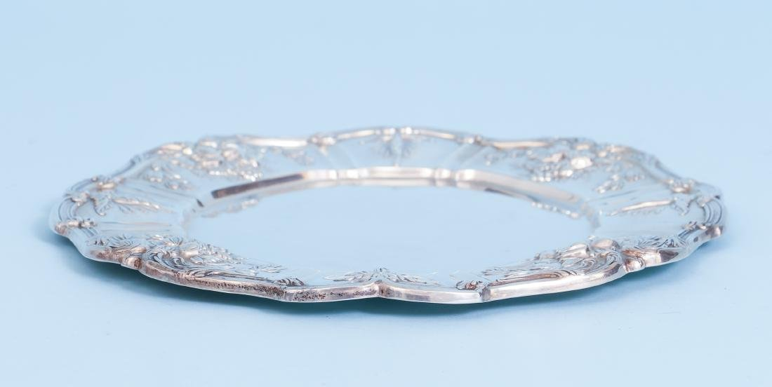 Reed and Barton Francis I Sterling Silver Round Tray - 5