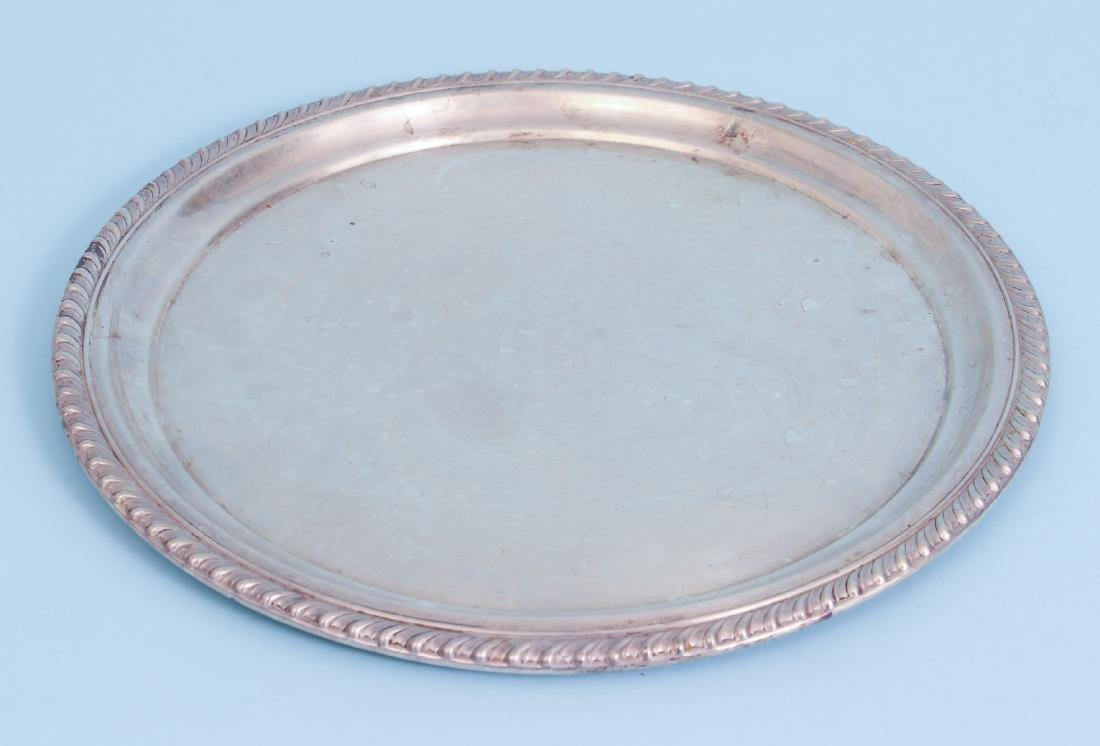 Two Sterling Silver Serving Trays - 8