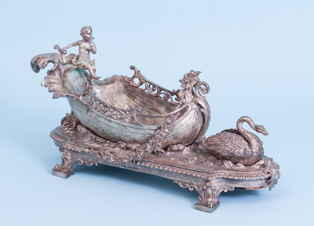 Silver Gilt Bronze Centerpiece