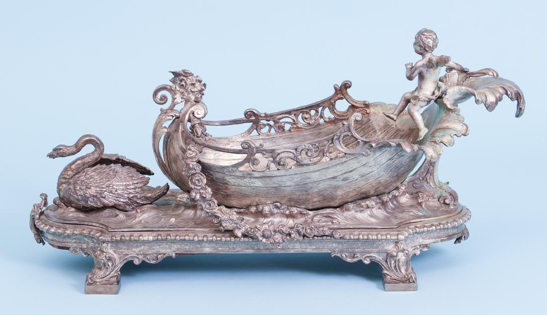 Silver Gilt Bronze Centerpiece - 4