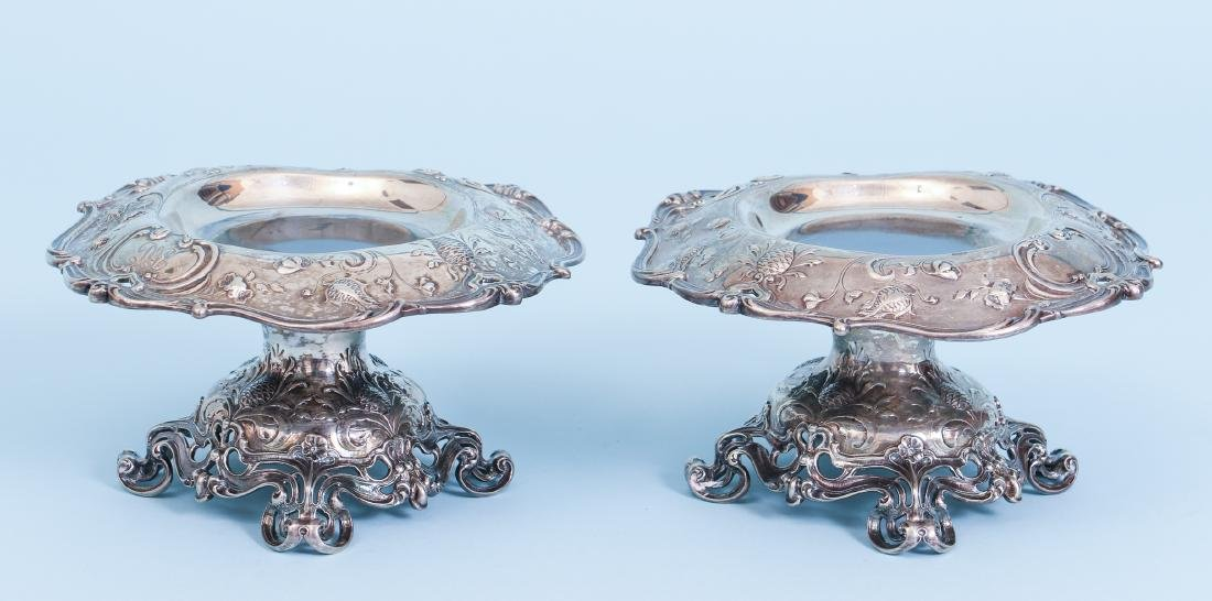 Pair of Gorham Sterling Silver Compotes