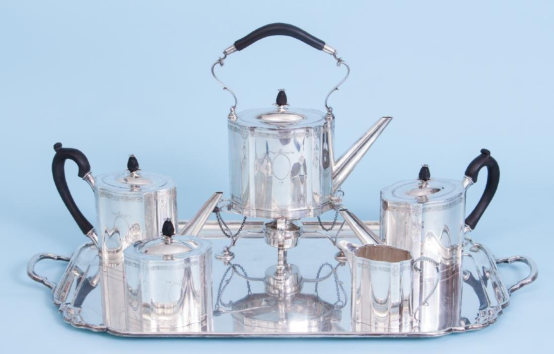Exceptional Georgian Reproduction Sterling Tea Set