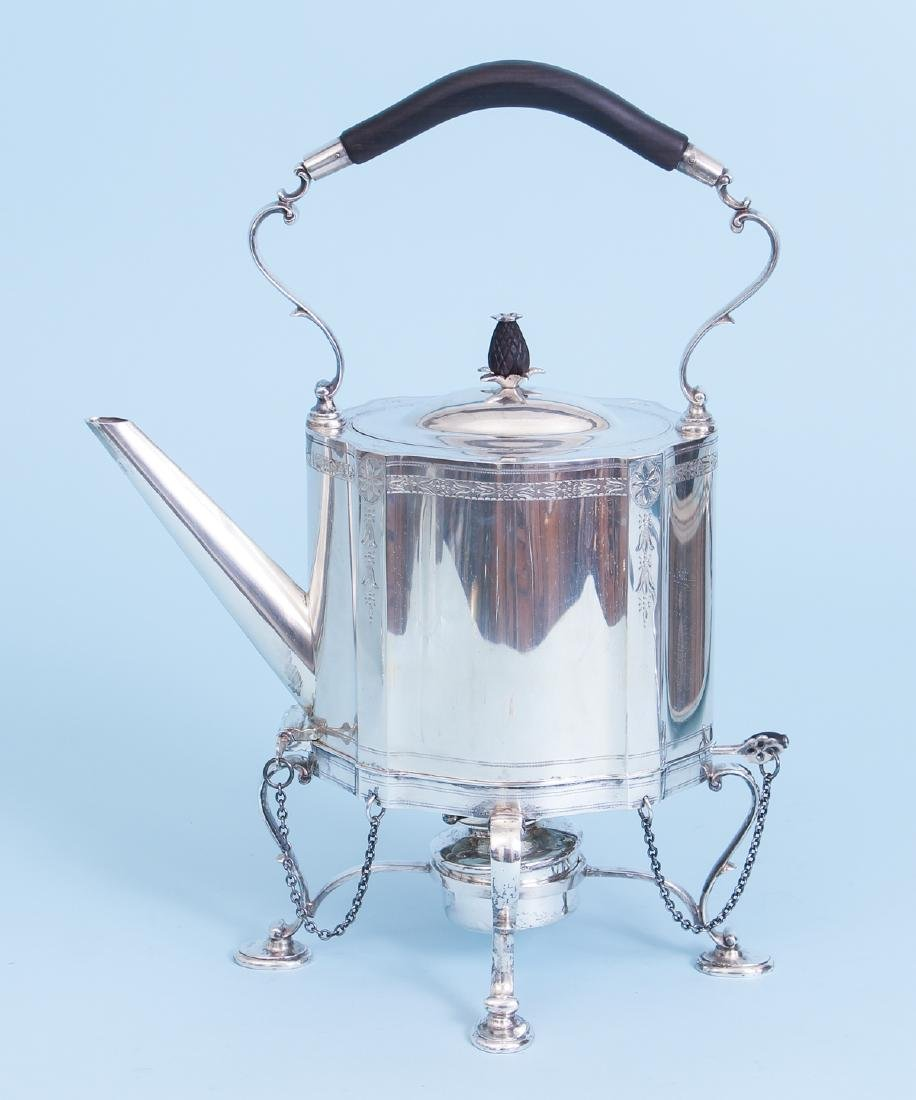 Exceptional Georgian Reproduction Sterling Tea Set - 6