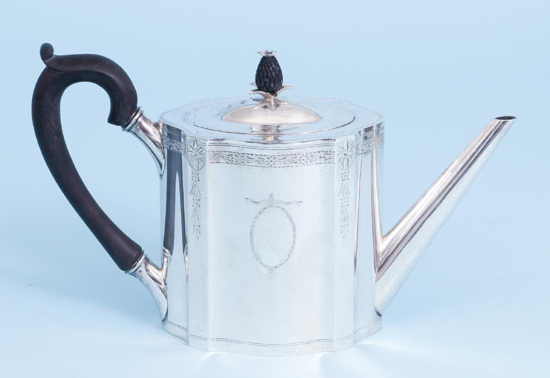 Exceptional Georgian Reproduction Sterling Tea Set - 7