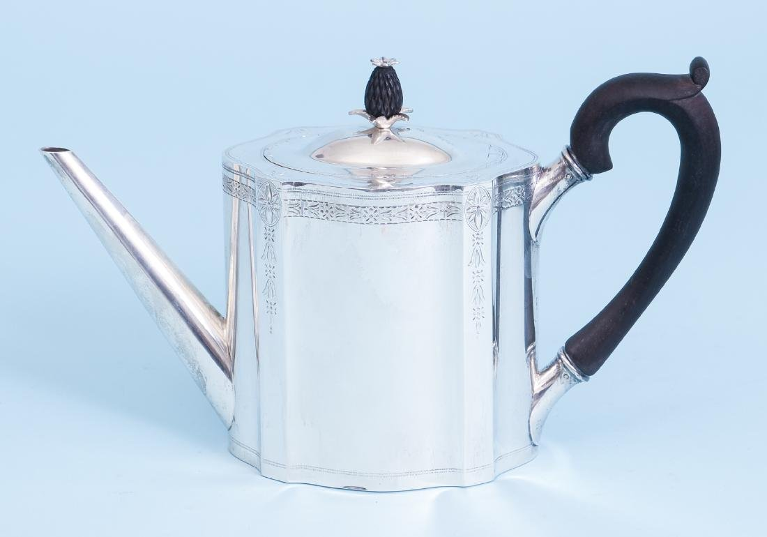 Exceptional Georgian Reproduction Sterling Tea Set - 8