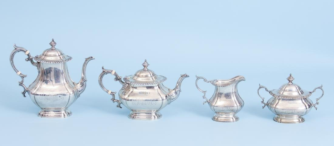 Gorham English Gadroon Sterling Silver Tea and Coffee