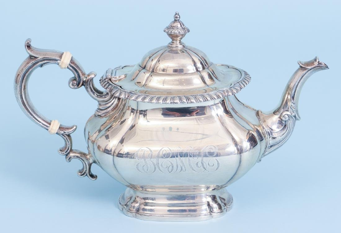 Gorham English Gadroon Sterling Silver Tea and Coffee - 5