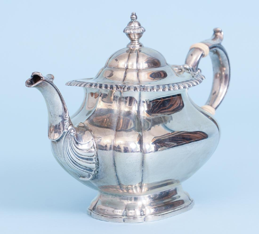 Gorham English Gadroon Sterling Silver Tea and Coffee - 6