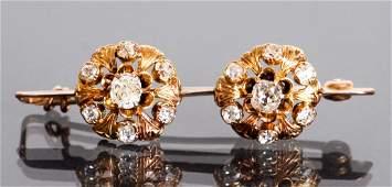 Victorian Diamond and Gold Bar Pin