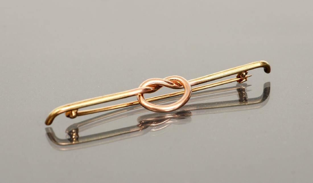 14 K Gold Knot Form Pin - 2