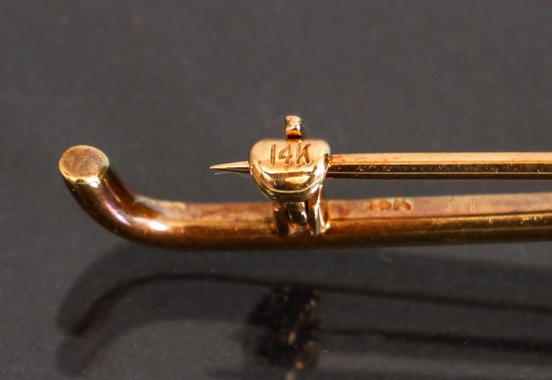 14 K Gold Knot Form Pin - 3