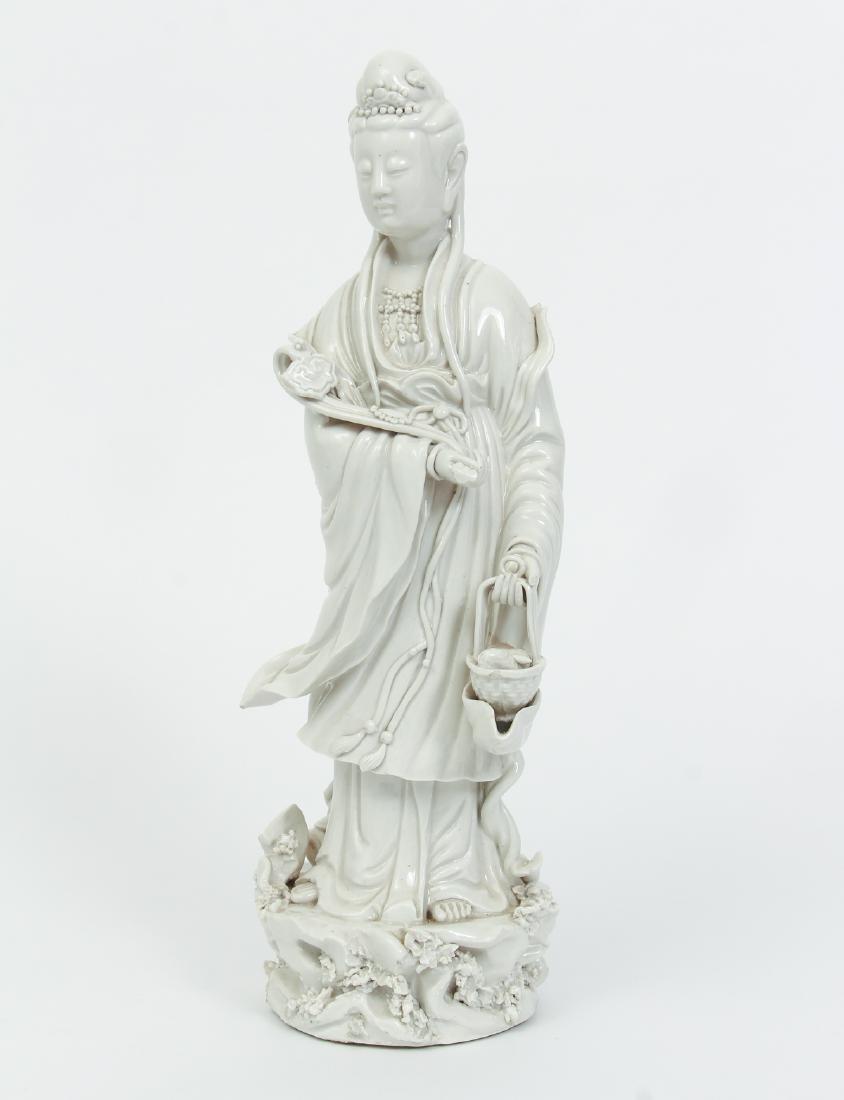 Blanc de Chine Guanyin with Ruyi Scepter