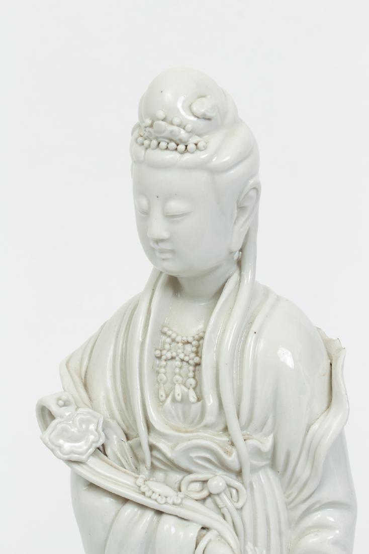 Blanc de Chine Guanyin with Ruyi Scepter - 5