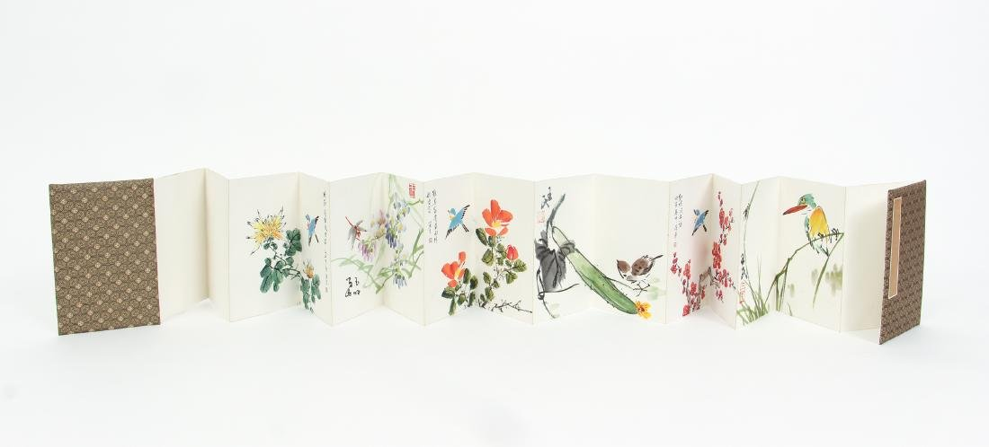 Chinese Watercolor Album Book