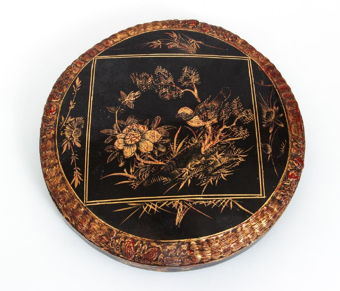 Three Section lacquered and gilded Chinese Lunch Box - 6