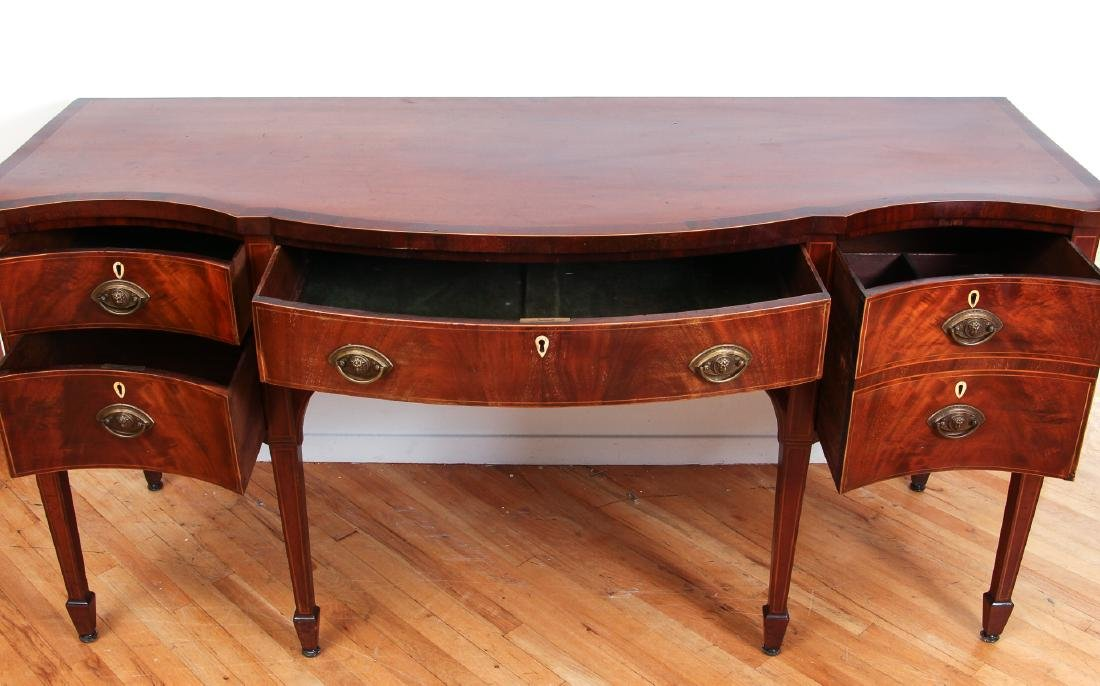 Antique Hepplewhite Mahogany Sideboard with Inlay - 2