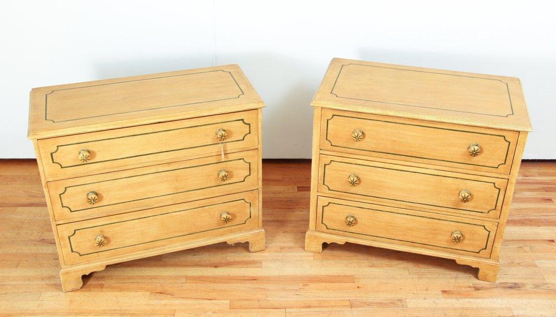 Pair of Pine Painted Chests of Drawers - 2