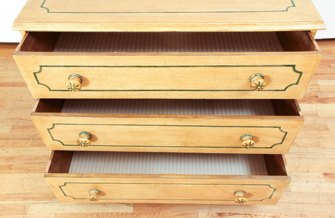 Pair of Pine Painted Chests of Drawers - 5