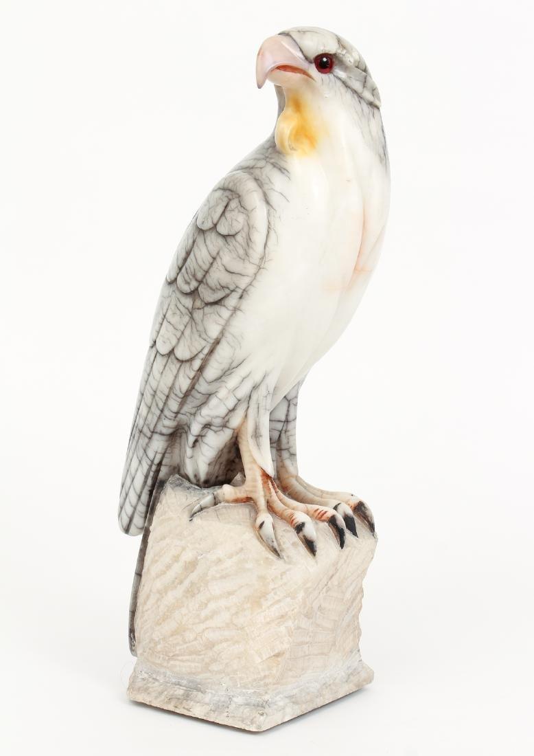 Large Carved Alabaster Falcon