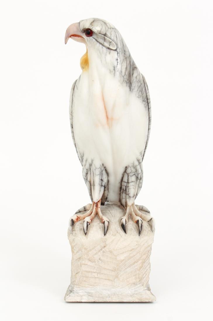 Large Carved Alabaster Falcon - 2