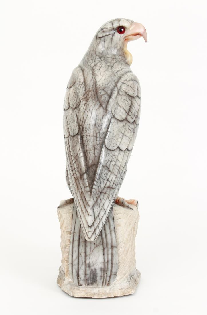 Large Carved Alabaster Falcon - 3