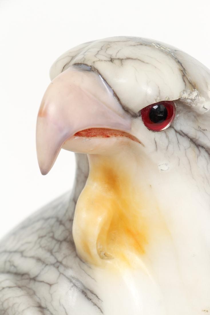 Large Carved Alabaster Falcon - 4
