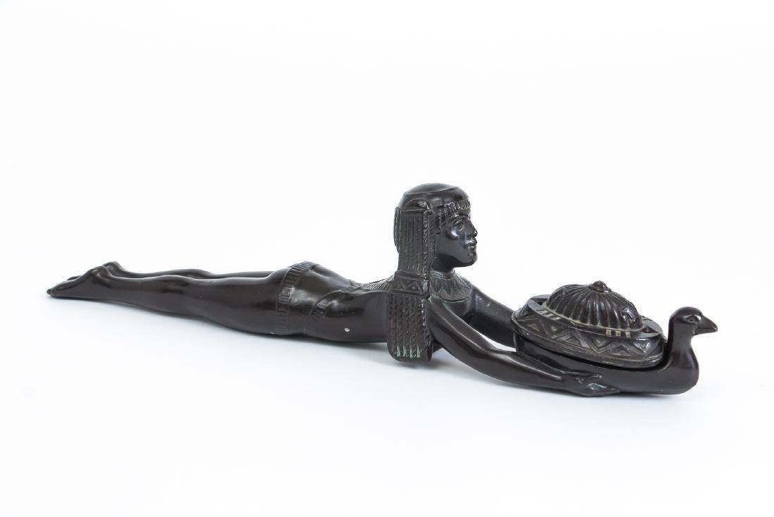 Art Deco Bronze Egyptian Revival Incense Burner