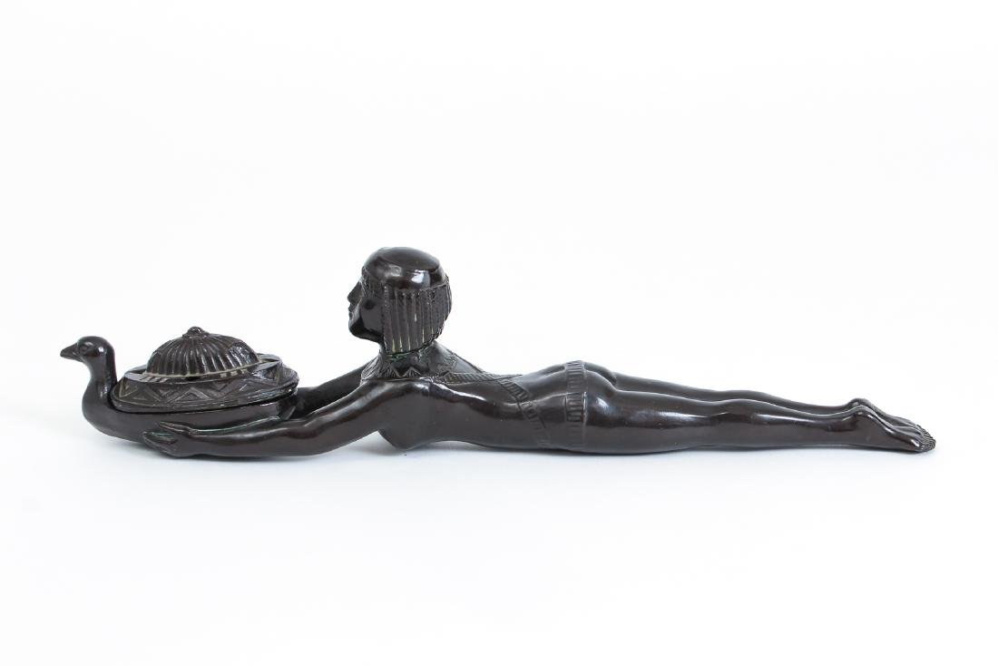 Art Deco Bronze Egyptian Revival Incense Burner - 3