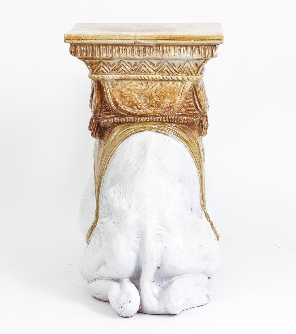 Camel Themed Italian Majolica Garden Seat - 4