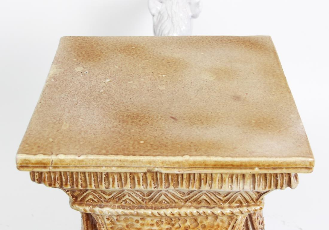 Camel Themed Italian Majolica Garden Seat - 5