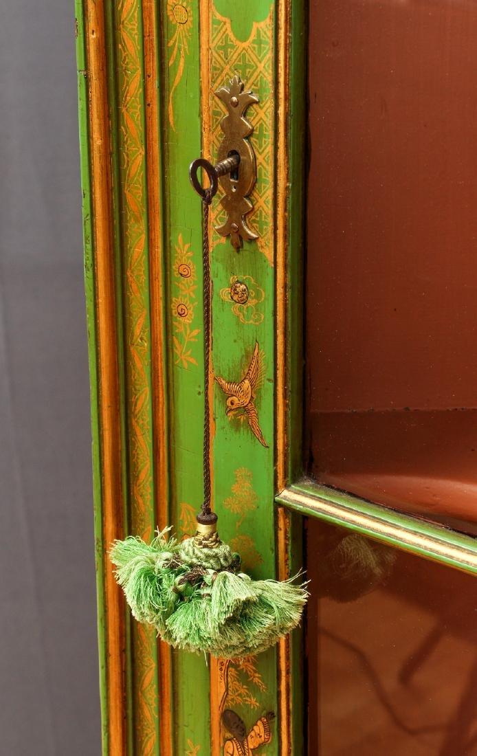 Chinoserie Arched Door Corner Cupboard - 2