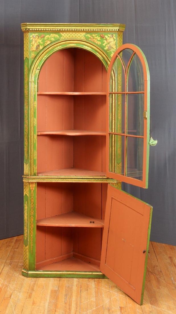 Chinoserie Arched Door Corner Cupboard - 3