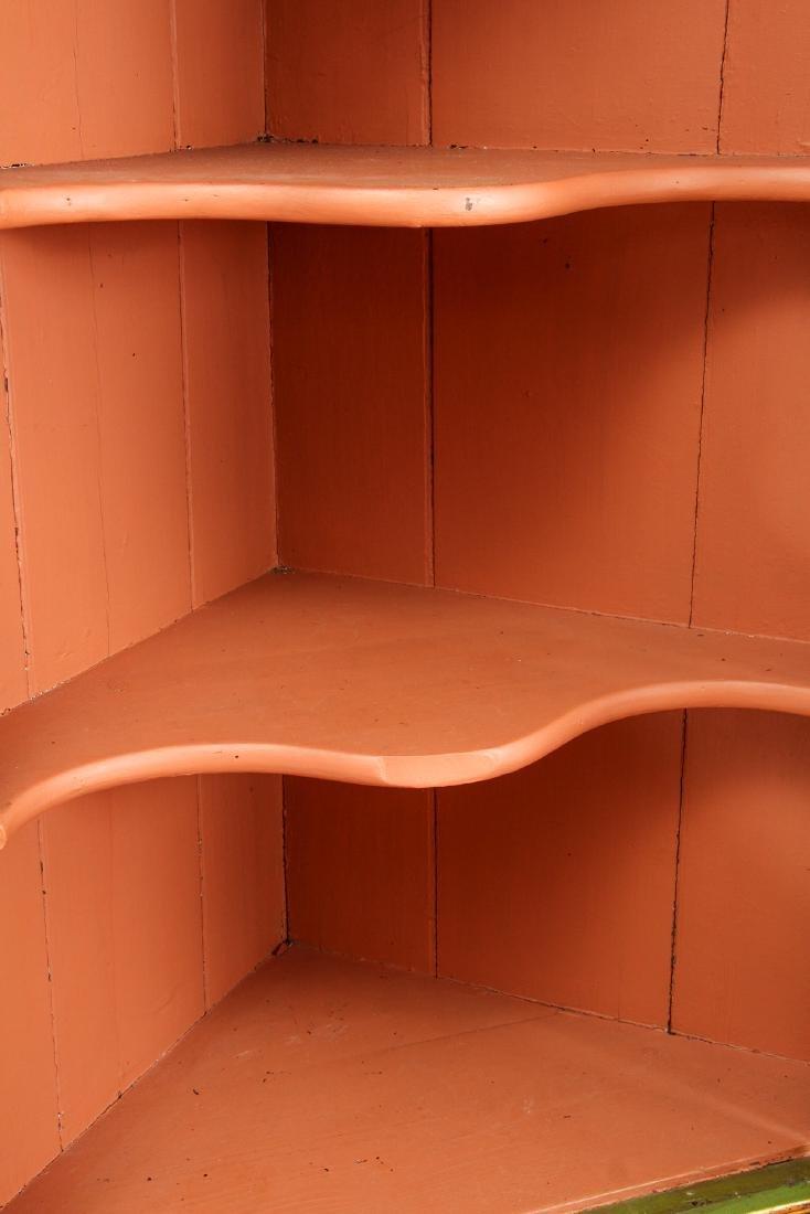 Chinoserie Arched Door Corner Cupboard - 4