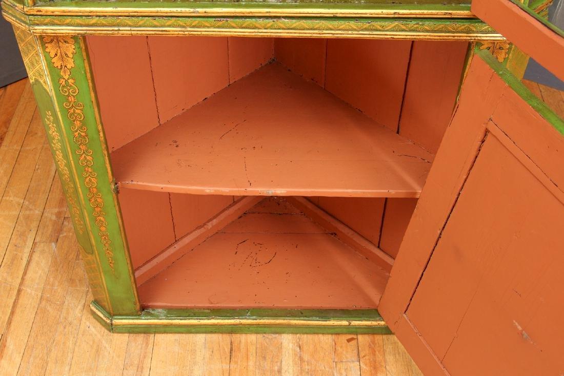 Chinoserie Arched Door Corner Cupboard - 5