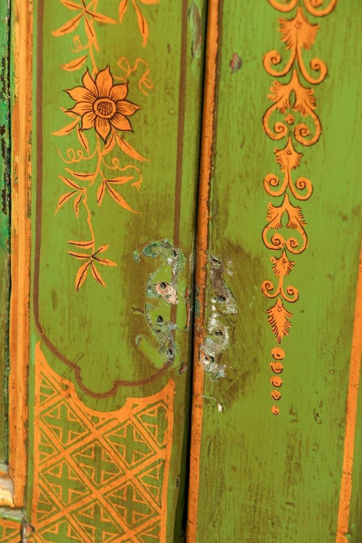 Chinoserie Arched Door Corner Cupboard - 7