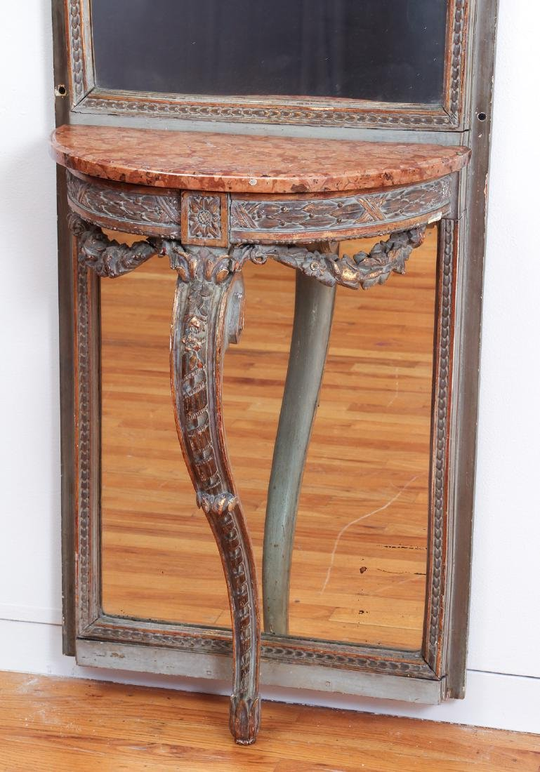 French Pier Mirror and Marble Top Stand - 3