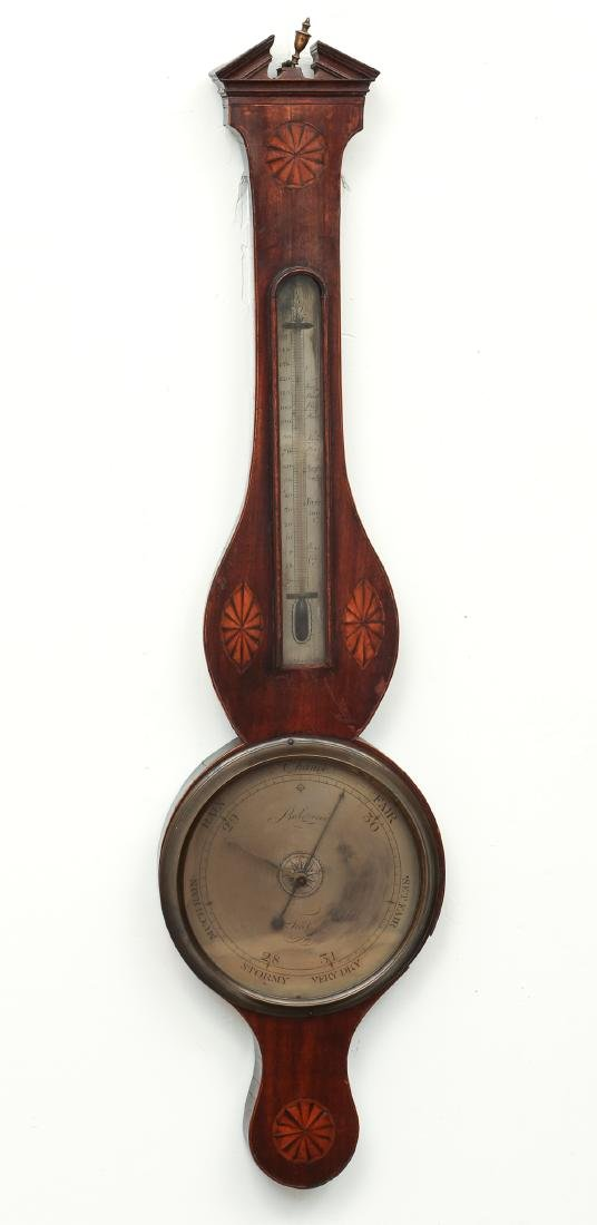 Sheridan inlaid Barometer by Bulgoroni