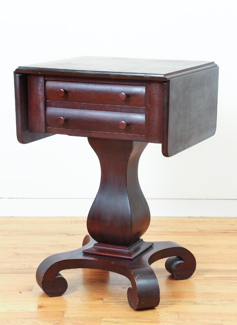 Empire Style Two Drawer Mahogany Stand