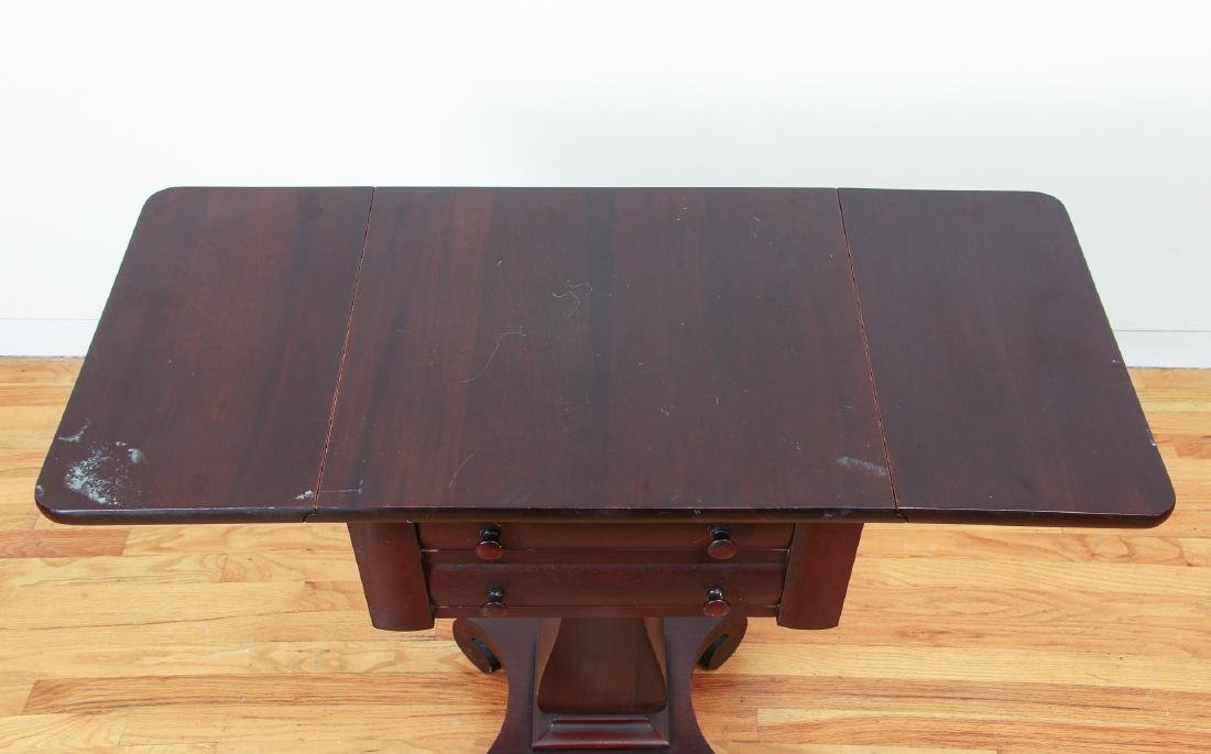 Empire Style Two Drawer Mahogany Stand - 3