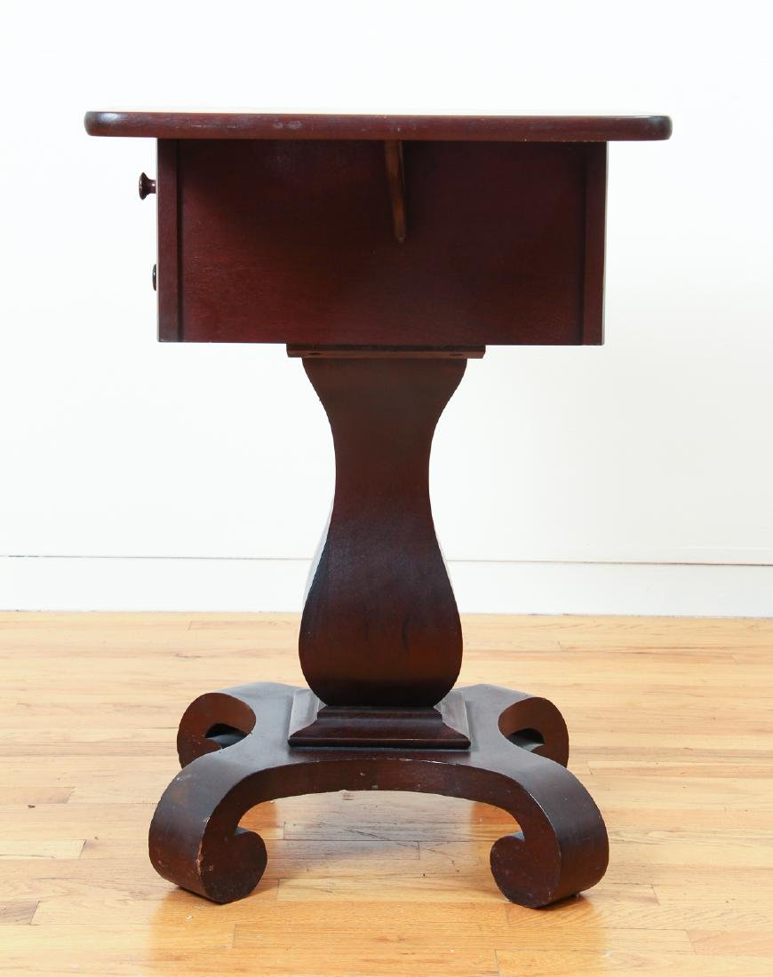Empire Style Two Drawer Mahogany Stand - 6