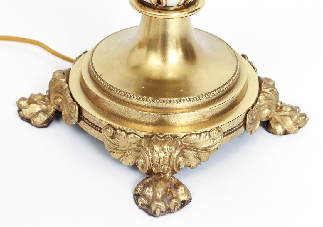 Antique Bohemian Enamel and Cut Glass Vase as Lamp - 10