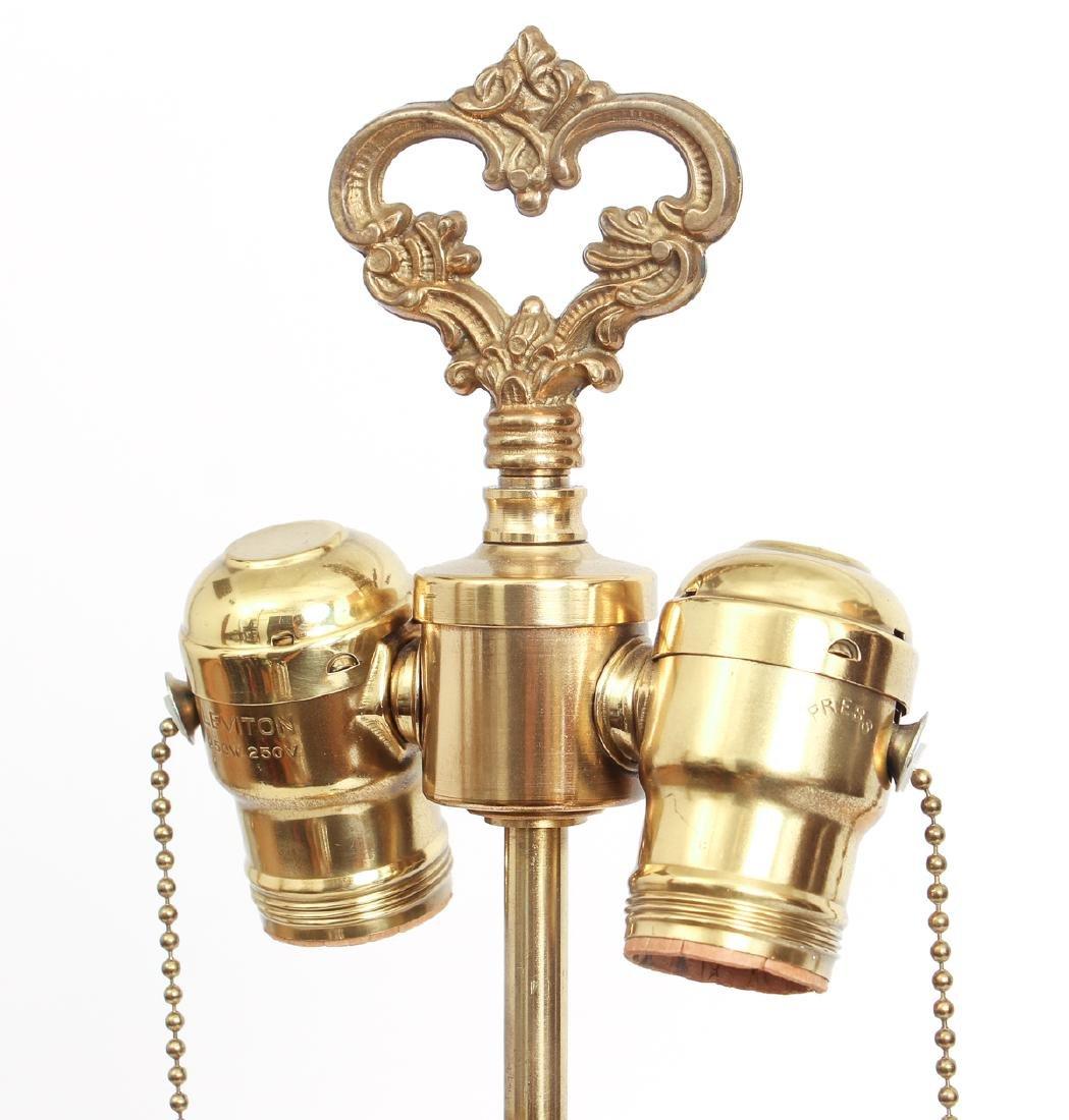 Antique Bohemian Enamel and Cut Glass Vase as Lamp - 4